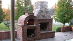 outdoor brick fireplace - Google Search