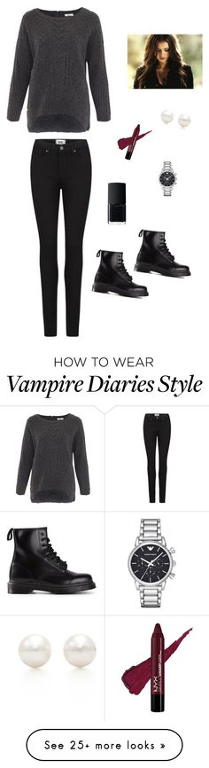 """""""Untitled #757"""" by francyrizzo on Polyvore featuring NARS Cosmetics, DAY Birger et Mikkelsen, Paige Denim, Dr. Martens, Emporio Armani and Tiffany & Co."""