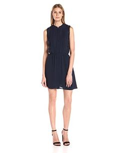 Greylin Womens Gianna Fringe Dress Navy Medium *** Click on the image for additional details.