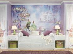 DISNEY PRINCESS AND THE FROG WALL MURAL Tiana & Naveen Purple Wallpaper Decor