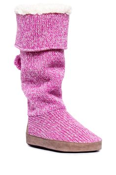 cbdf3b20d Winona Candy Coated Slipper Boot by MUK LUKS Pink Slippers