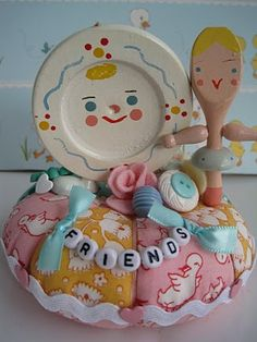 Pin cushion .. FRIENDS