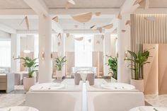 Pink terrazzo is paired with natural timber and nickel fixtures inside this Singapore restaurant completed by Universal Design Studio Bar Design, Design Studio, Store Design, Hotel Restaurant, Restaurant Design, Cafe Bar, Commercial Design, Commercial Interiors, Bar Interior