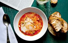 Recipe: Eggs Poached in Marinara Sauce || Photo: Andrew Scrivani for The New York Times