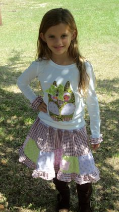 Custom BOUTIQUE applique OWL top and patchwork by MyOnlySunshine01, $45.00