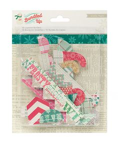 American Crafts - Crate Paper - Bundled Up Collection - Christmas - Layered Borders at Scrapbook.com