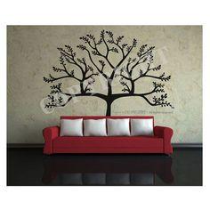 Family Tree Photo, Family Tree Wall, Photo Tree, Tree Collage, Wall Collage, Basement Wall Colors, Tree Wall Painting, Stencil Decor, Living Comedor