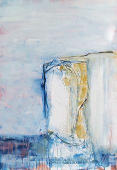 """EUR 450,– Original Acrylgemälde aus der Serie """"Steilküsten"""" von Stefanie Rogge 80 x 100 cm, #Acryl, #Leinwand #Collage #Kunst #Abstrakt #Kunst #art #artist #malerei #unikat"""