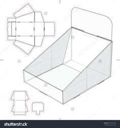 Find Display Stand Tray Blueprint stock images in HD and millions of other royalty-free stock photos, illustrations and vectors in the Shutterstock collection. Pop Display, Table Top Display, Display Design, Display Boxes, Cardboard Display, Cardboard Toys, Craft Booth Displays, Printable Box, Origami Box