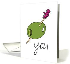 Olive You (I love You) Valentine's Day | Greeting Card Universe by Ivy M Brown