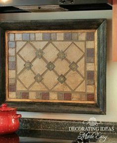 s 13 incredible kitchen backsplash ideas that aren t tile, kitchen backsplash, kitchen design, Make a mosaic from cut paper