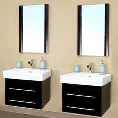 """Do you like the BellaTerra Home 203102-D - 48"""" Fynn Double Bathroom Vanity we have in stock? I think it will really appeal to the minimalistic in everyone. Hey, if Apple can pull it off, so can you!"""