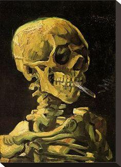 Bild: Vincent van Gogh - Schädel mit brennender Zigarette - Expolore the best and the special ideas about Smokers Van Gogh Tattoo, Van Gogh Pinturas, Vincent Van Gogh, Skull Painting, Willem De Kooning, Alphonse Mucha, Norman Rockwell, Jackson Pollock, Colors