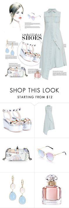 """*Magic Slippers:Embellished Shoes Contest*- Set#7"" by sassy-elisa ❤ liked on Polyvore featuring Sophia Webster, Acne Studios, Vivienne Westwood, Saks Fifth Avenue, Guerlain and embellishedshoes"