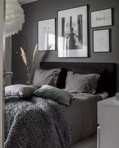 home bedroom Interior / Scandi / home a - Modern Master Bedroom, Gray Bedroom, Home Decor Bedroom, Bedroom Ideas Grey, Ikea Bedroom, Bedroom Inspiration, Bedroom Furniture, Scandi Home, Room Interior Design