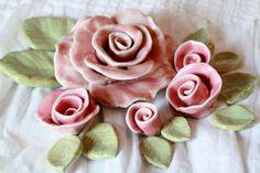 Handmade Ceramic roses mosaic wedding cake by LisaBetzSupplies, $34.00