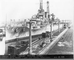USS Texas in the Panama Canal, 1919