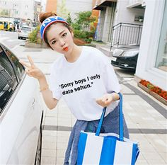 """EXO """"I only date EXO ___"""" Tshirt"""
