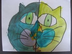 MaryMaking: Abstract Cat Faces - Kindergarten