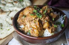 Slow Cooker Indian Chicken Curry-chicken thighs, diced tomatoes,potatoes, baby spinach, ginger