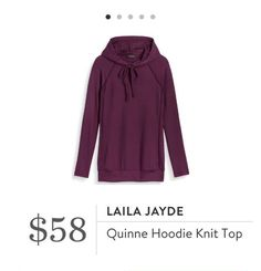 """Stitch Fix: Laila Jayde Quinne Hoodie Knit Top - The perfect """"Soccer Mom"""" top in a great fall color"""