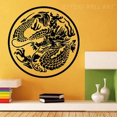 Dragon Totem Removable wall Stickers, Removable Wall Decals, Nursery wall decal, home decor, boys room decal, christmas gift