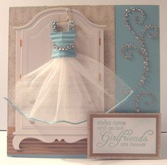 the dresser is a chipboard sticker ,the dress is made with a square punch that…