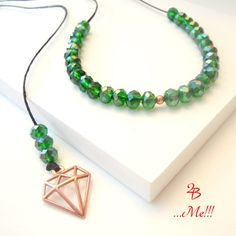 Green Beaded Necklace, Rose Gold Pendant, Pendant Necklace, Adjustable... ($24) ❤ liked on Polyvore featuring jewelry, necklaces, green pendant necklace, adjustable necklace, beaded necklaces, rose gold necklace pendant and rose gold necklace