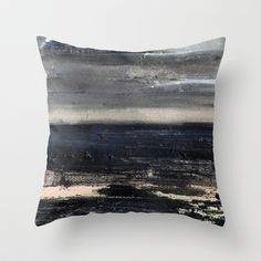 dark sea Throw Pillow by Agnes Trachet - $20.00