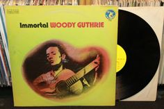 """Woody Guthrie """"Immortal"""" LP, Everest Records 1973, with Cisco Houston and Sonny Terry (folk vinyl record) $8.00"""