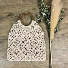 Farrah Crochet Shopper in Natural Leather Tooling, Leather Clutch, Boho Bags, Vintage Leather, Rattan, Straw Bag, Purses And Bags, Wallets, Bamboo