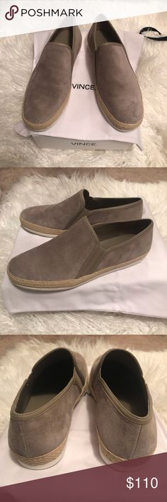 "b4ead7d70b2 Vince Espadrille Sneakers Brand new Vince Suede Espadrille Slip-On Shoes.  Slip-on style. Style ""Acker"" Please let me know if you have any questions   ) Vince ..."