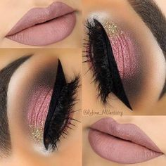 Pretty Mauve Makeup Look for Prom