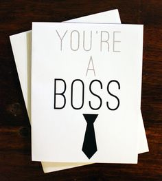 Youre a boss congrats card thinking of you card by misterpug 200 youre a boss greeting cardsboss m4hsunfo
