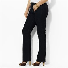 Lauren Ralph Lauren Plus Size Stretch Straight-Leg Jean