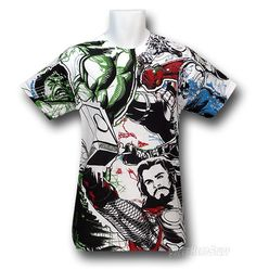 Avengers Movie Combined Attack All Over Print T-Shirt FRONT