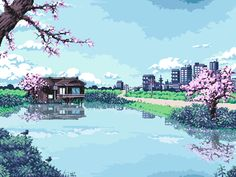 Took a while, but I finally finished this. It's based on a photo my cousin took when she was in Japan a while ago.65 colors (35 without the reflection), 350x263px
