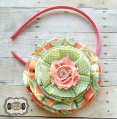 Shabby Chic Handmade Oversize Salmon Coral by CountryQTBowtique