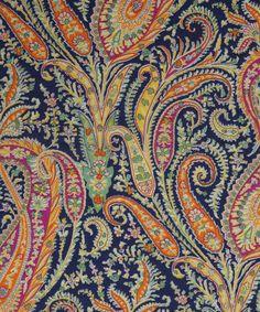 Liberty Art Fabrics Felix and Isabelle A Tana Lawn Textiles, Textile Prints, Textile Patterns, Textile Design, Print Patterns, Scarf Patterns, Lino Prints, Paisley Art, Paisley Design
