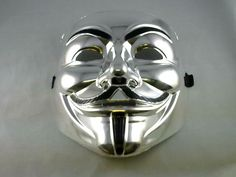V for Vendetta Mask / Anonymous / Guy Fawkes Mask - Silver Exotic Animals, Exotic Pets, V For Vendetta Mask, Guy Fawkes Mask, Anonymous, Joker, Skull, Darth Vader, Guys