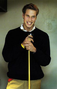 Prince William played a game of pool with friends at a bar in St. Andrews in November 2004.