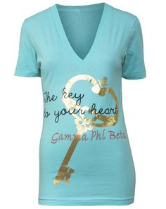 gamma-phi-beta-key-to-your-heart-vneck-front