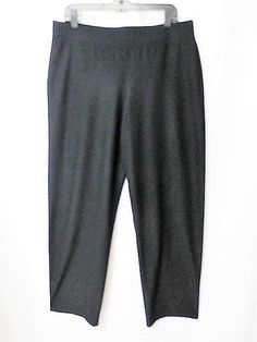 178$ EILEEN FISHER Sz L BLACK CREPE STRAIGHT PANTS IN PERFECT CONDITION USA #EileenFisher #CasualPants