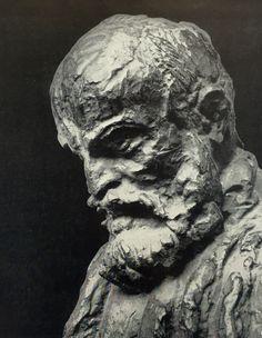 Бурдель. Antoine Bourdelle. Автопортрет. Бронза. 1908