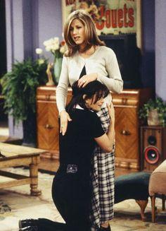 Monica asking Rachel for money for the stock market