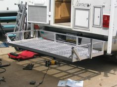 Truck camper deck wi Truck camper deck with fishing rod holders Small Truck Camper, Best Truck Camper, Truck Camper Shells, Slide In Camper, Small Trucks, Truck Camping, New Trucks, Cool Trucks, Popup Camper