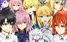 Download wallpapers FateGrand Order, Japanese anime game, all characters