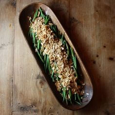 Haricot Verts with Lemon Brown Butter and Toasted Almonds | Bourbon and Brown Sugar