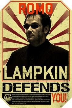 Romo Lampkin (Mark Sheppard) in Battlestar Galactica