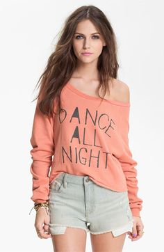 Project Social T 'Dance All Night' Graphic Sweatshirt (Juniors) | Nordstrom
